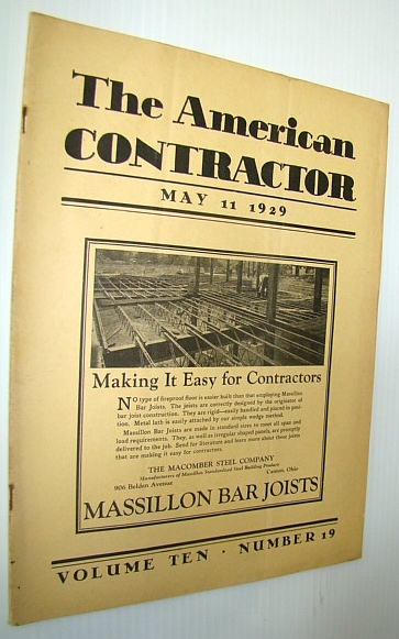 Image for The American Contractor Magazine, May 11, 1929 - Special Safety Issue
