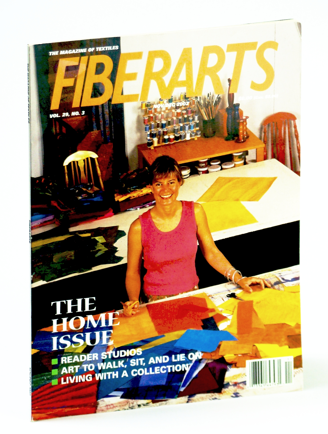 Image for Fiberarts, The Magazine of Textiles,  November / December (Nov. / Dec.) 2002: The Home Issue