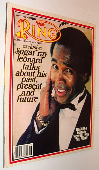 Image for The Ring Magazine, Sept 1983 *Sugar Ray Leonard Cover Photo*