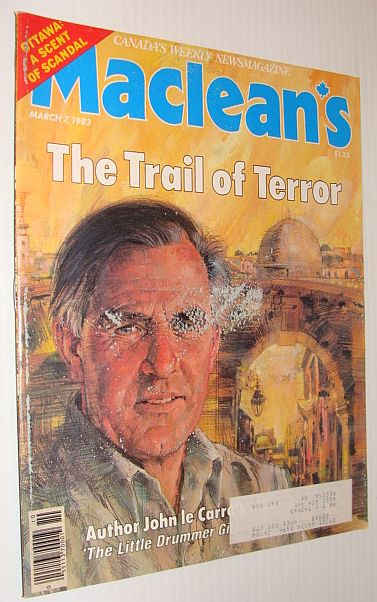 Image for Maclean's Magazine, March 7, 1983 - John Le Carre Cover Photo and Feature Article
