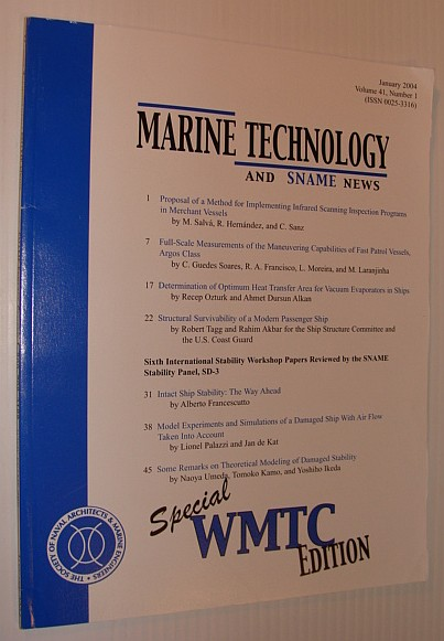 Image for Marine Technology and SNAME News, January 2004