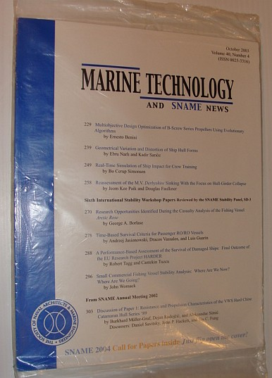 Image for Marine Technology and SNAME News, October 2003