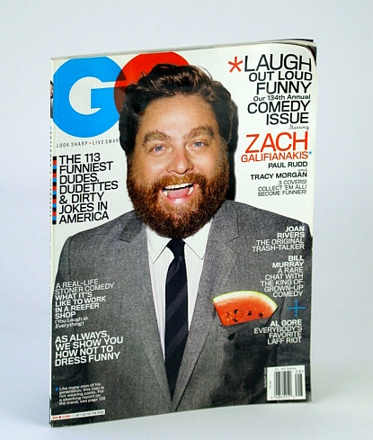 Image for GQ (Gentlemen's Quarterly) Magazine, August (Aug.) 2010 - Zach Galifianakis Cover Photo / 134th Comedy Issue