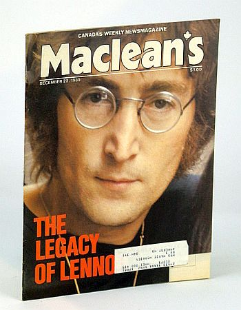 Image for Maclean's - Canada's Weekly Newsmagazine, December (Dec.) 22, 1980 - John Lennon Cover Photo
