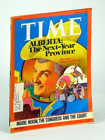 Image for Time Magazine, Canadian Edition, August (Aug.) 4, 1974 - Alberta/Peter Lougheed Cover Illustration