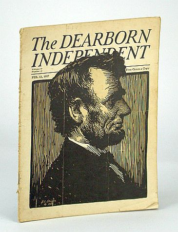 Image for The Dearborn Independent (Magazine) - Chronicler of the Neglected Truth, February (Feb.) 12, 1927 - The Great Anneke Jans Delusion / Abraham Lincoln Cover and Content