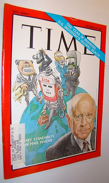 Image for Time Magazine, December 29, 1967 - Cover Illustration of Jersey Standard's Michael Haider