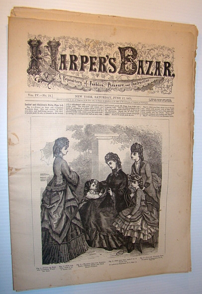 Image for Harper's Bazar (Bazaar) Magazine, 17 June 1871 - A Repository of Fashion, Pleasure, and Instruction