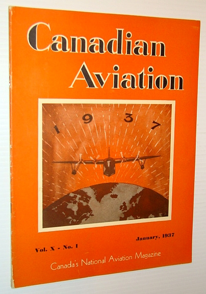 Image for Canadian Aviation Magazine, January 1937 - Sensational Fleet Aircraft Four-Page Centerfold Ad