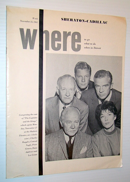 Image for Where Magazine: Where to go, What to do, When in Detroit, Week of November 25, 1961